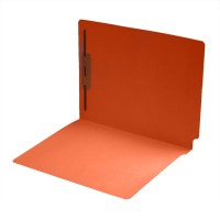 14 pt Color Folders, Full Cut 2-Ply End Tab, Letter Size, Fastener Pos #1, Orange (Box of 50)