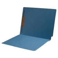 14 pt Color Folders, Full Cut 2-Ply End Tab, Letter Size, Fastener Pos #1 (Box of 50)