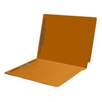 14 pt Color Folders, Full Cut 2-Ply End Tab, Letter Size, 2 Fasteners in Pos #1 & #3, Golden...