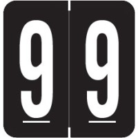 "GBS Compatible Numeric Labels, Number ""9"", Laminated Stock, 1-5/16"" X 1-1/4"" Individua..."