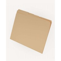 11 pt Manila Folders, 1/3 Cut Reinforced Top Tab - Assorted, Letter Size, Embedded Fastener ...