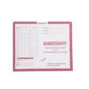 "S-31536 - Mammography, Pink #190 - Category Insert Jackets, System II, Open Top - 10-1/2"" x 12-1/2"" (Carton of 500)"