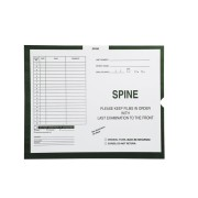 "S-31961 - Spine, Green #364 - Category Insert Jackets, System II, Open End - 14-1/4"" x 17-1/2"" (Carton of 250)"