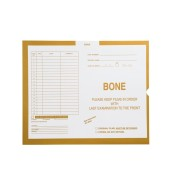 S-38057 - Bone, Yellow #109 - Category Insert Jackets, System I, Open End - 14-1/4