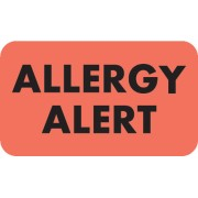 S-4930 - Allergy Warning Labels, Allergy Alert - Fl Red, 1-1/2