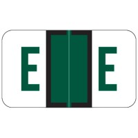 "Jeter 5100 Compatible Alpha Labels, Letter ""E"", Laminated Stock, 15/16"" X 1-5/8"" Indiv..."