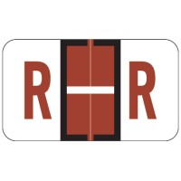 "Jeter 5100 Compatible Alpha Labels, Letter ""R"", Laminated Stock, 15/16"" X 1-5/8"" Indiv..."