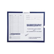 "S-54945 - Mammography, Dark Blue #287 - Category Insert Jackets, System I, Open End - 14-1/4"" x 17-1/2"" (Carton of 250)"