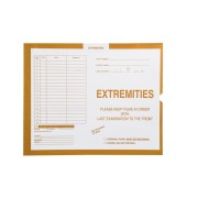 "S-54957 - Extremities, Yellow #109 - Category Insert Jackets, System I, Open Top - 14-1/4"" x 17-1/2"" (Carton of 250)"