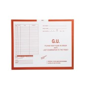 "S-54960 - G.U. (Genito-Urinary), Orange #165 - Category Insert Jackets, System I, Open Top - 14-1/4"" x 17-1/2"" (Carton of 250)"