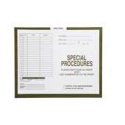 "S-54976 - Special Procedures, Olive #582 - Category Insert Jackets, System I, Open Top - 14-1/4"" x 17-1/2"" (Carton of 250)"