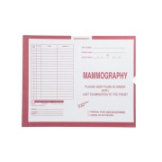 "S-54990 - Mammography, Pink #190 - Category Insert Jackets, System II, Open End - 14-1/4"" x 17-1/2"" (Carton of 250)"