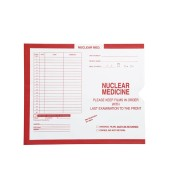 "S-63049 - Nuclear Medicine, Red #185 - Category Insert Jackets, System I, Open End - 10-1/2"" x 12-1/2"" (Carton of 500)"