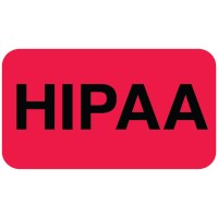 "HIPAA Labels, HIPAA - Red, 1-1/2"" X 7/8"" (Roll of 250)"