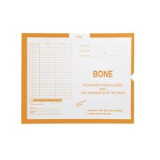"S-74747 - Bone, Yellow #115 - Category Insert Jackets, System II, Open End - 14-1/4"" x 17-1/2"" (Carton of 250)"