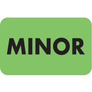 S-8020 - Chart Labels, MINOR - Fl Green, 1-1/2