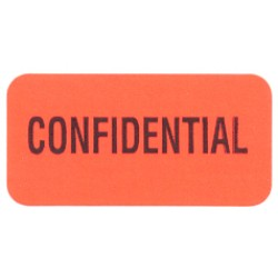 "Reminder Labels, Confidential - Red, 1.5"" X .75"" (Roll of 250)"