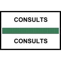 Stick On Index Tabs, CONSULTS (Green)