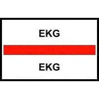 Stick On Index Tabs, EKG (Red)