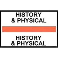 Stick On Index Tabs, HISTORY & PHYSICAL (Orange)