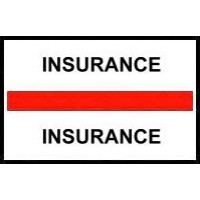Stick On Index Tabs, INSURANCE (Red)