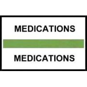 S-8049 - Stick On Index Tabs, MEDICATIONS (Lt Green) 1-1/2
