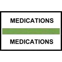 Stick On Index Tabs, MEDICATIONS (Lt Green)