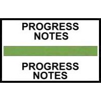 Stick On Index Tabs, PROGRESS NOTES (Lt Green)