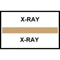 Stick On Index Tabs, X-RAY (Brown)