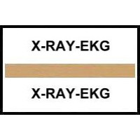 Stick On Index Tabs, X-RAY-EKG (Brown)