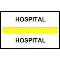 Stick On Index Tabs, HOSPITAL (Yellow)