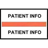 Stick On Index Tabs, PATIENT INFO (Orange)