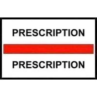 Stick On Index Tabs, PRESCRIPTION (Red)