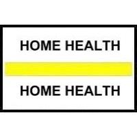 Stick On Index Tabs, HOME HEALTH (Yellow)