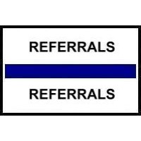 Stick On Index Tabs, REFERRALS (Dk Blue)