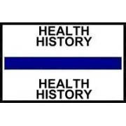 S-8072 - Stick On Index Tabs, HEALTH HISTORY (Dk Blue) 1-1/2
