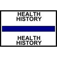 Stick On Index Tabs, HEALTH HISTORY (Dk Blue)