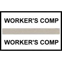 Stick On Index Tabs, WORKER'S COMP (Gray)