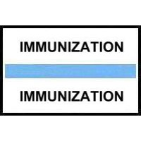 Stick On Index Tabs, IMMUNIZATION (Lt Blue)