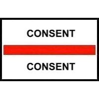 Stick On Index Tabs, CONSENT (Red)