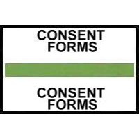 Stick On Index Tabs, CONSENT FORMS (Lt Green)