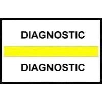 Stick On Index Tabs, DIAGNOSTIC (Yellow)