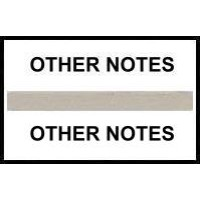 Stick On Index Tabs, OTHER NOTES (Gray)