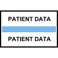 Stick On Index Tabs, PATIENT DATA (Lt Blue)