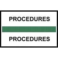 Stick On Index Tabs, PROCEDURES (Dk Green)