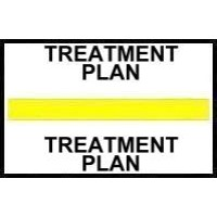 Stick On Index Tabs, TREATMENT PLAN (Yellow)