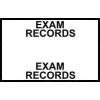 Stick On Index Tabs, EXAM RECORDS (White)
