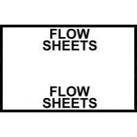 Stick On Index Tabs, FLOW SHEETS (White)