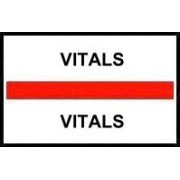 S-8099 - Stick On Index Tabs, VITALS (Red) 1-1/2