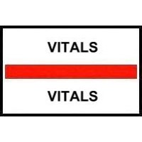 Stick On Index Tabs, VITALS (Red)